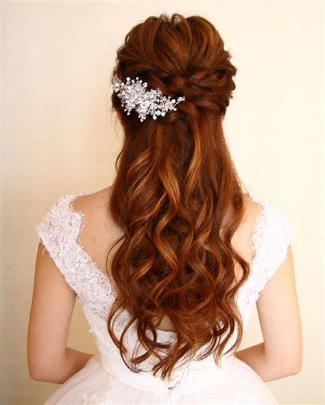 Pictures Of Partial Updo Hairstyles | 32 pretty half up half down hairstyles partial updo