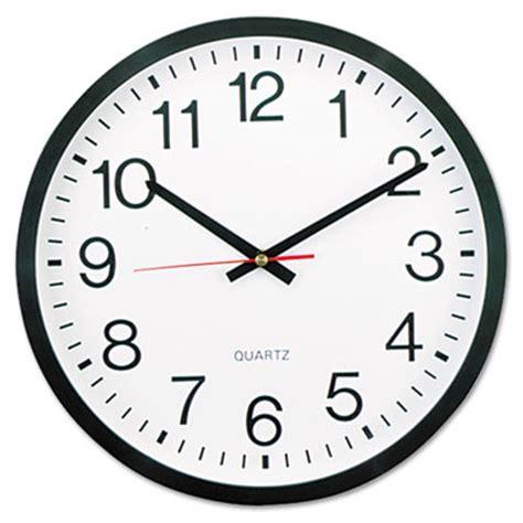 Jam Dinding Standard White universal 174 12 1 2 quot wall clock sunbelt paper