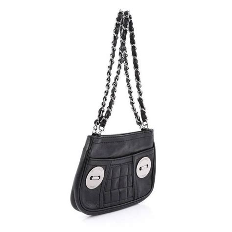 chanel button chain shoulder bag quilted caviar small at