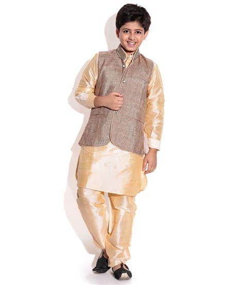 riwaaz cream mehroon color kurta pajama set with jacket riwaaz brown fone color kurta pajama set with jacket for