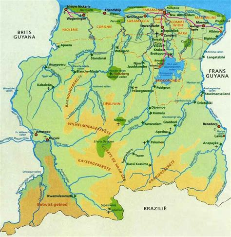 surinam map suriname facts the eco travel rally 2014