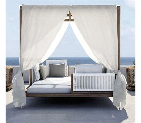 outdoor bed with canopy romantic canopy bed outdoors home decorating ideas
