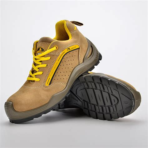 Safety Shoes Safetoe Capella L 7296 experienced supplier of yellow summer safety shoe l 7296yellow