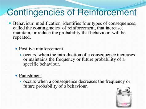 Behavior Modification Reinforcement by Organizational Behavior Behavior Modifications