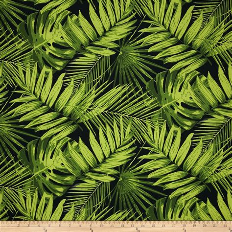 tropical fabric prints for upholstery terrasol indoor outdoor tropical fronds ebony discount