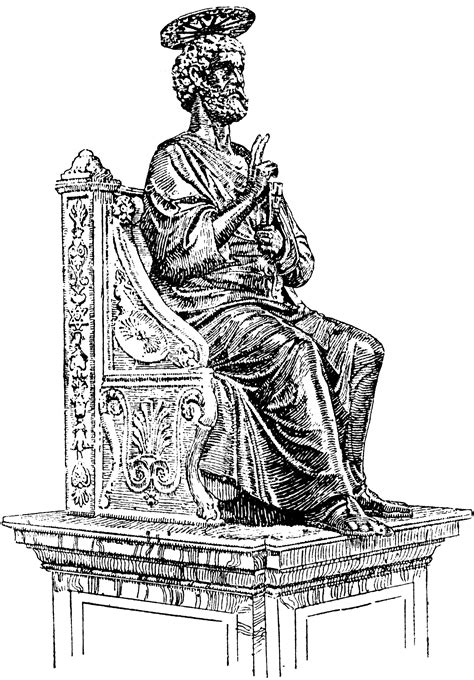 statue  st peter clipart