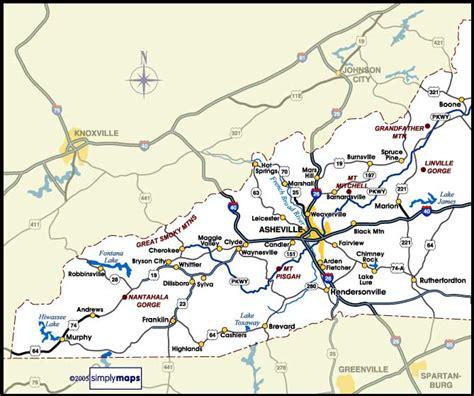 map of western carolina western nc rentals map vacation rental cabins condos carolina mornings
