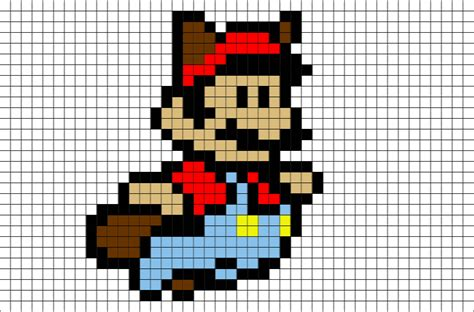 mario pixel template flying mario pixel brik