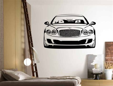 luxury wall stickers stickonmania vinyl wall decals luxury car front sticker