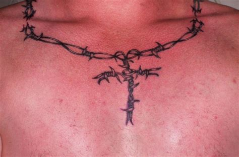 wire tattoo designs barbed wire cross meaning