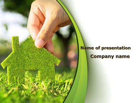 Green House Building Presentation Template For Powerpoint Green Building Ppt Templates Free