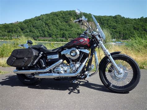 Motorrad Koblenz by Harley Davidson Koblenz Wide Glide Schwarz Mit Roten Flames