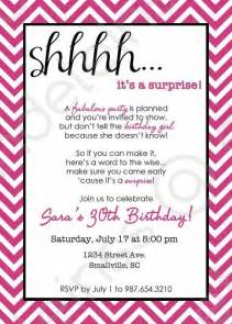 chevron surprise party invitation printable invitation