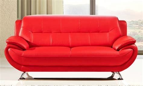 red leather loveseats sabina red leather sofa set