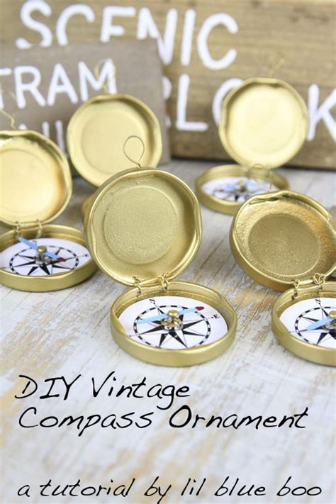 How To Make A Paper Compass - diy ornament ideas vintage compass