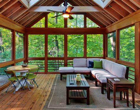 Lake House Plans For Narrow Lots by Great Wooden Material In Sun Room Desaign With Natural