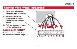 how wire a honeywell room thermostat honeywell thermostat wiring connection tables hook up
