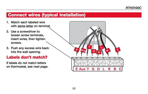 honeywell thermostat wiring diagram 2300b air