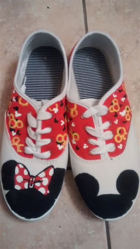 minnie mouse shoes mickey and minnie mouse shoes by marqueeinfinity on etsy