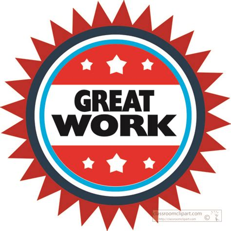 Free Clip Great by Motivational Great Work Circle Classroom Clipart