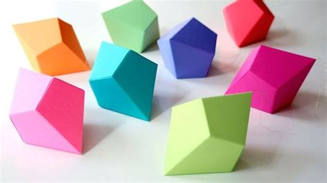 Origami Geometric - origami geometric shapes modular origami how to make a