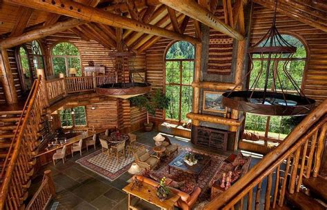 awesome log home interior interior log home open floor awesome log cabin home dream home pinterest