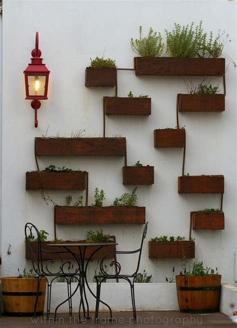Patio Wall Decorations by Patio Wall Pots Design Decor Beautiful Interiors And