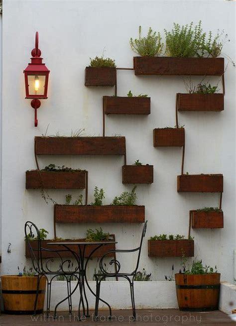patio wall pots design decor beautiful interiors and
