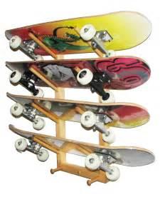 skateboard rack 4 skateboards angled interior design