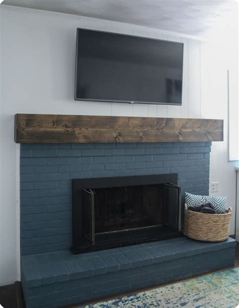 diy rustic fireplace mantel the cure for a boring