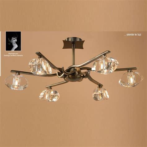 antique brass ceiling light fixtures mantra spain alfa m0413ab antique brass semi 6 light