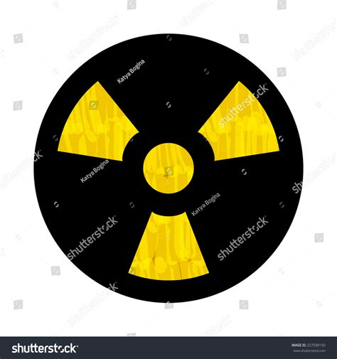 design elements radiation royalty free felt tip marker yellow radiation sign