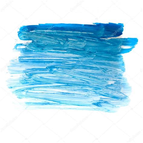 stroke blue paint brush color water watercolor isolated on white stock photo 169 maxximmm1 15861499