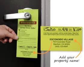 Maintenance Door Hanger Template by Maintenance Door Hangers Add Your Name Or In Stock Designs