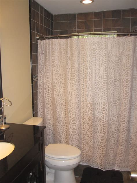 shower curtain that lets light through just another day in paradise guest bathroom renovation