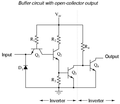 buffer lifier using transistor the buffer gate logic gates electronics textbook