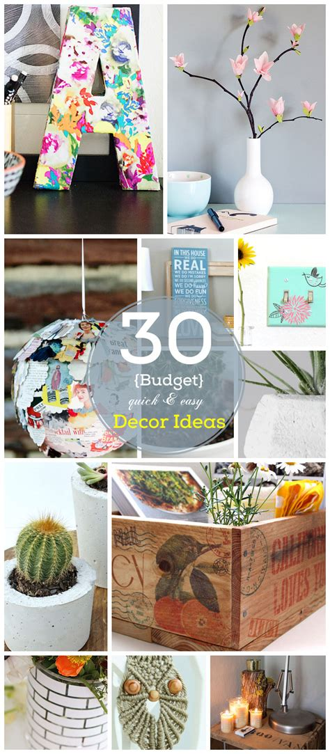 Craft Decorating Ideas Your Home 30 Diy Home Decor Ideas On A Budget Click For Tutorial Easy And Creative Decor Ideas