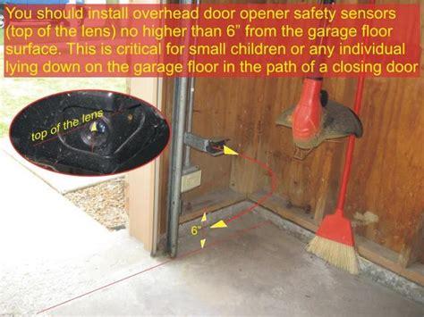 garage door sensors overhead door opener sensor