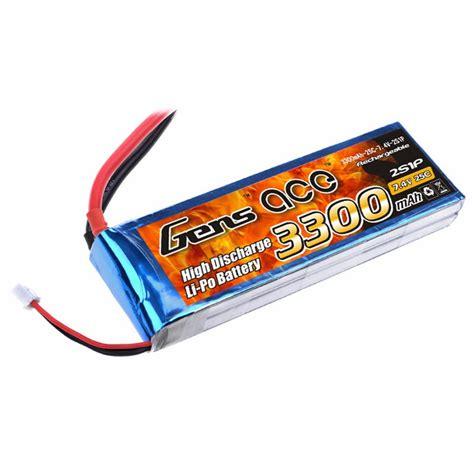gens ace 3300mah 7 4v 25c 2s1p lipo battery pack gens ace