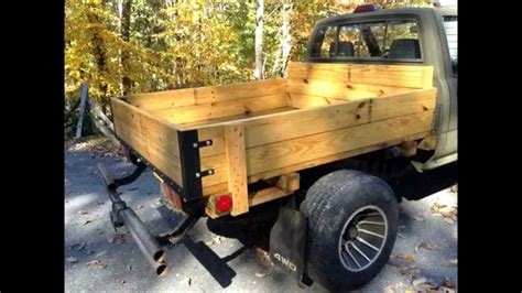 wooden truck bed home made toyota wooden flatbed