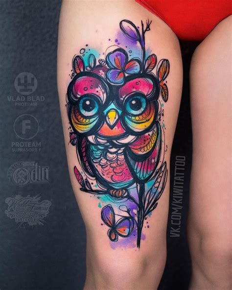 color owl tattoo 50 of the most beautiful owl designs and their