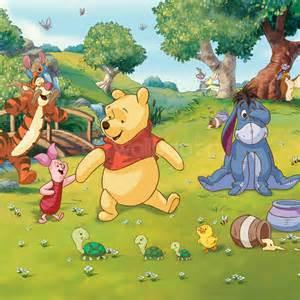 walltastic disney winnie the pooh wallpaper mural disney winnie pooh eeyore piglet tigger wall mural for