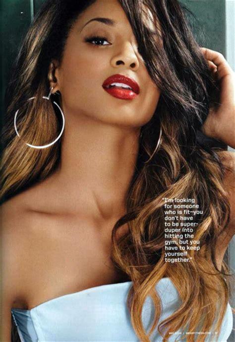 latina ombre hair ciara celebrity name