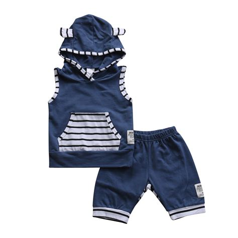Baby Victory Boy 3y 2 aliexpress buy 2pcs set adorable summer newborn baby boys infant hooded tops striped