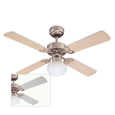 vegas ceiling fan with silver and light maple blades 72272