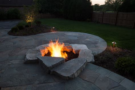 wi landscape fire pit landscaping project in mequon wisconsin treetops landscape design inc