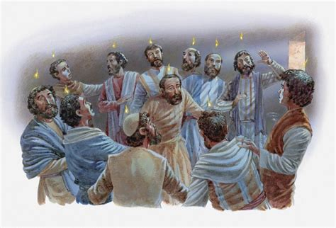 apostle speaks from heaven a revelation books day of pentecost the holy spirit fills the disciples