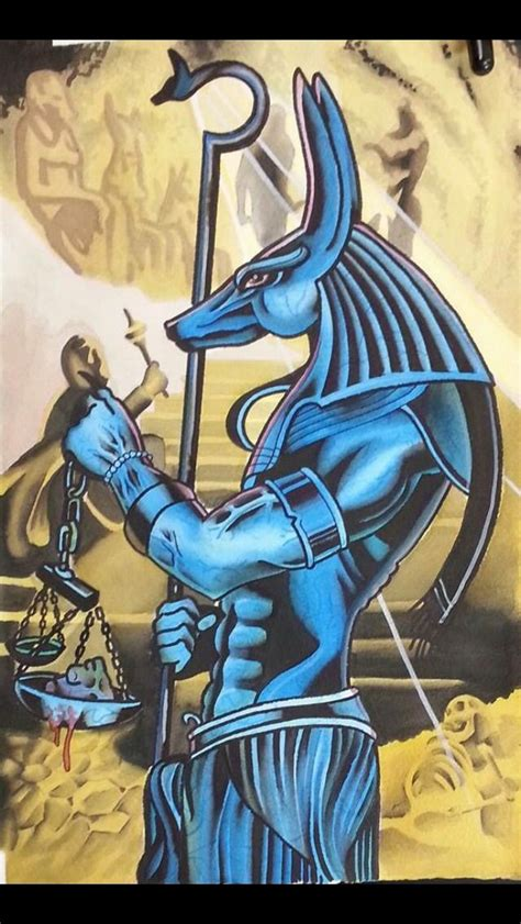 tattoo body art in egypt sando anubis painting for a tattoo i did in 2013 watercolor