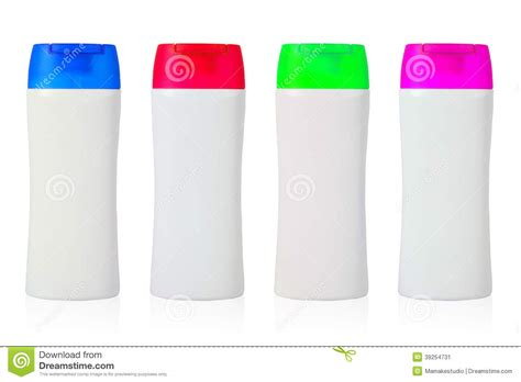 template plastic collage of colorful plastic bottle template stock photo