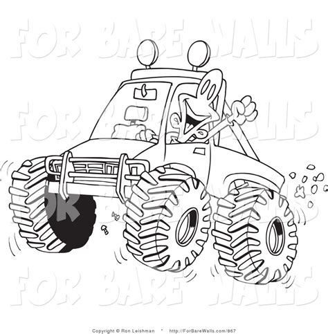 mud truck clip art printable illustration of a coloring page outline design